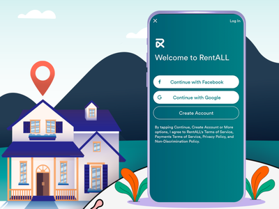 Build an app for your online rental marketplace business branding app design