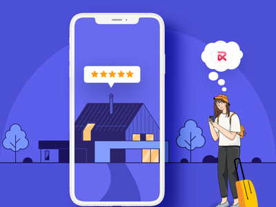 Help your users rate the property after their stay using RentALL branding ui