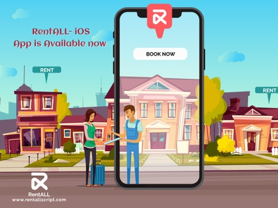 RentALLScript - Airbnb clone iOS App app ios airbnbclonescript airbnbclone rentallscript