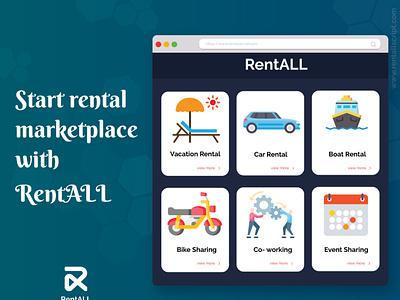 RentALLScript design illustration airbnbclone