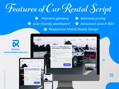 Features of car rental script design rentallscript carrentalscript