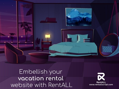 Embellish your vacation rental website with RentALL illustration design airbnbclone