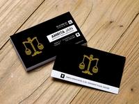 Business Card Design for Advocate