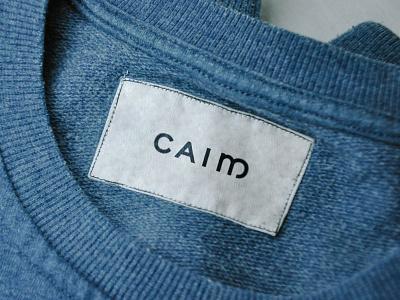 Caim Clothing label clothing identity branding typography logo design tall gaelic celtic logo