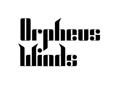 Orpheus Winds greek mythology music notes music branding logo wordmark wind ensemble orpheus typography