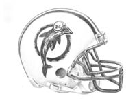 Miami Dolphins Retro Helmet