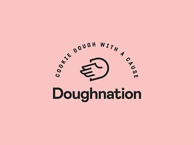 Doughnation Logo sharp mabry identity brand hand cookie dough logo