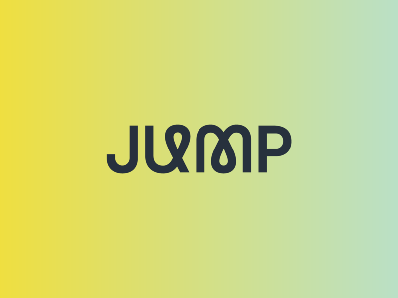 Jump Wordmark local business passionate branding siliconslopes lehi software walt logo jump