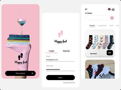 happy feet illustration happy socks branding ui figmaafrica app design figmadesign design figma