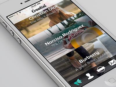 Creatial ios tab bar mobile menu minimal simple flat ui iphone interface clean