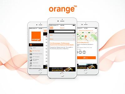 Orange Care  orange location user mobile care ux ui screen service number