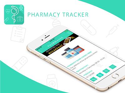 Pharmacy Tracker  nice location search tracker pharmacy design white ux ui