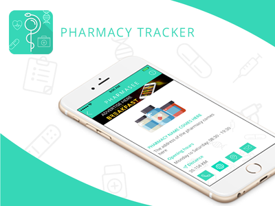 Pharmacy Tracker  nice location search tracker pharmacy design white ux ui