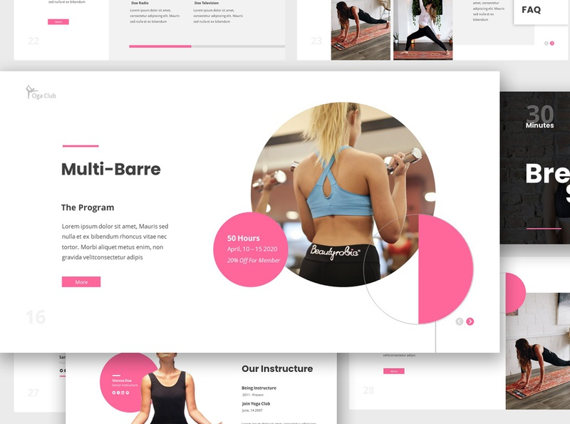 Yoga Club Google Slides Presentation