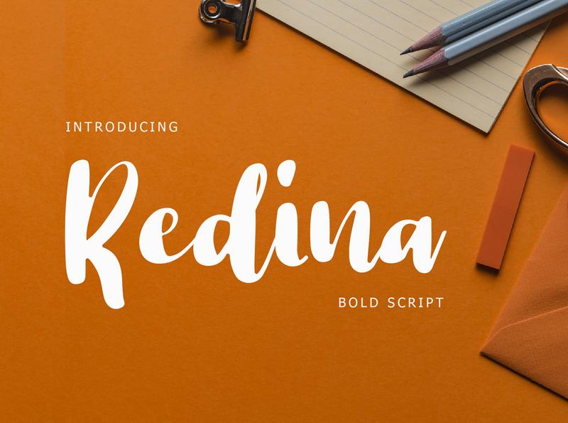 Redina Bold Script Font