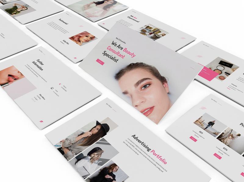 Makeup Artist Google Slides Template