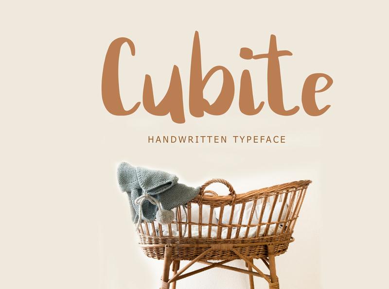 Cubite Handwritten Brush Font