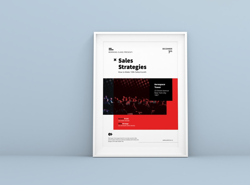 Sales Strategies A4 Flyer Template a4 motivation template conference modern leaflet talkshow sales