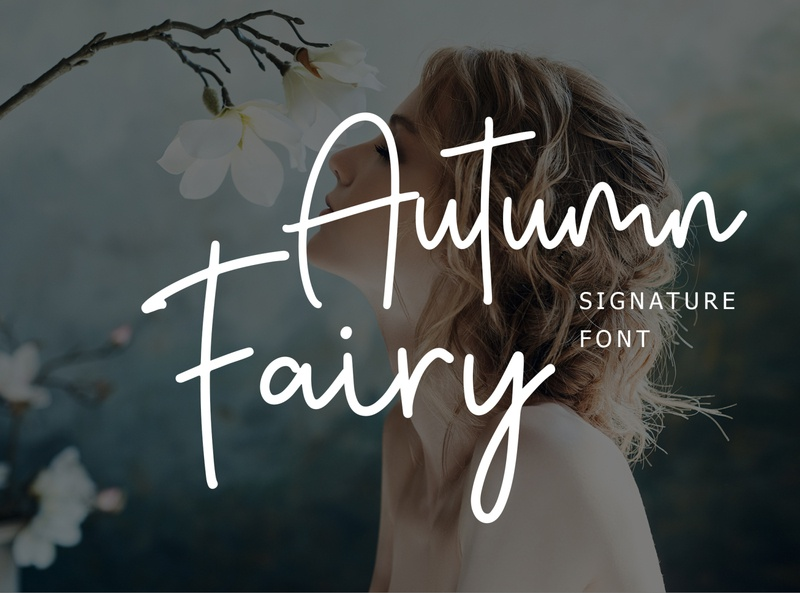 Autumn Fairy Signature Monoline Font sports kids sport food graffiti elegant cursive handwritten calligraphy neon bold retro wedding brush modern logo vintage script fonts font
