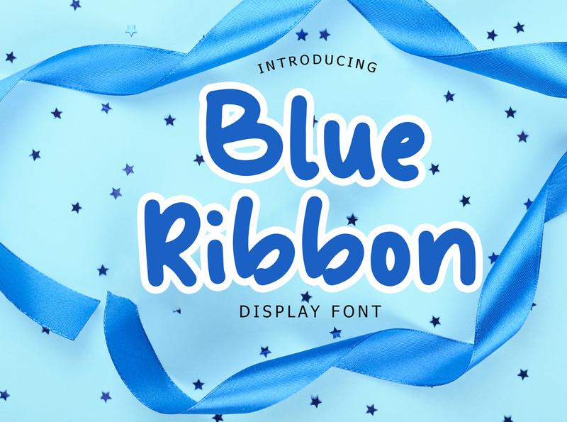 Blue Ribbon Fun Display Font By GiantDesign
