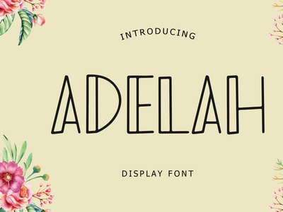 Adelah Display Font animation child children cartoon cute pussy kitten cats typeface kids modern brand minimal logo branding typography display font handwritten lettering