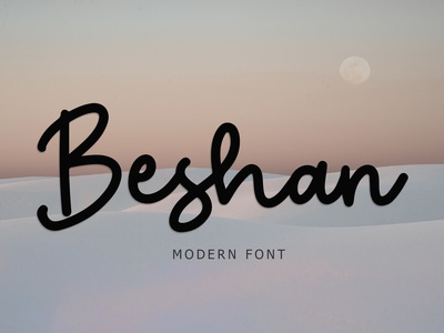 Beshan Modern Font typeface foundry typography modern luxury font signature beautiful monoline ligature handwritten hand lettering calligraphy script