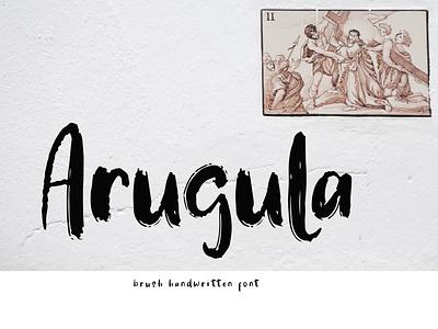Arugula Brush Handwritten Font energetic sporty brush typeface foundry typography modern luxury font signature beautiful monoline ligature handwritten hand lettering calligraphy script