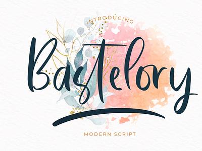 Bastelory Modern Script Font fondry typography modern luxury font signature beautiful wedding ligature handwritten hand lettering calligraphy script