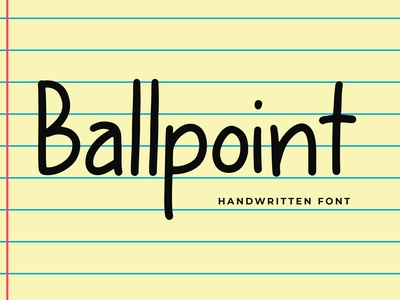 Ballpoint Modern Display Font hand branding logo brand modern serif sans lettering pathfinderstd font handwritten