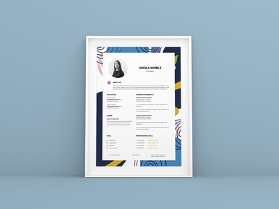 Creative Resume CV Design Template vitae interview employment curriculum work vacancies headhunter company employer employee application apply job design cv resume