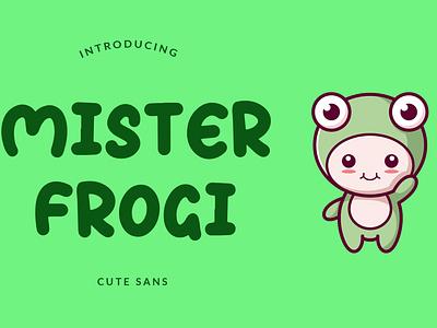Mister Frogi Display Font toys serif sans playful pathfinderstd modern logo lettering handwritten hand game food font display children branding brand