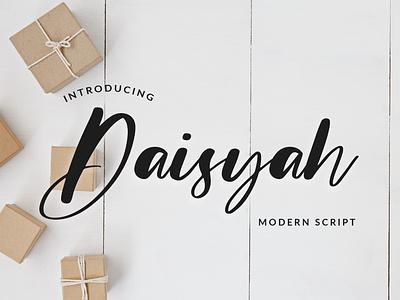 Daisyah Modern Script Font brush foundry typography modern luxury font signature beautiful wedding ligature handwritten hand lettering calligraphy script