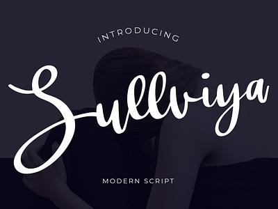 Sullviya Modern Script Font wedding typography signature script pathfinderstd modern luxury ligature lettering handwritten hand font elegant calligraphy brush beautiful