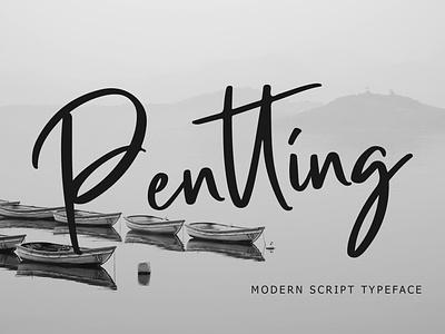 Pentting Modern Script Font wedding typography signature script pathfinderstd modern luxury ligature lettering handwritten hand font elegant calligraphy brush beautiful