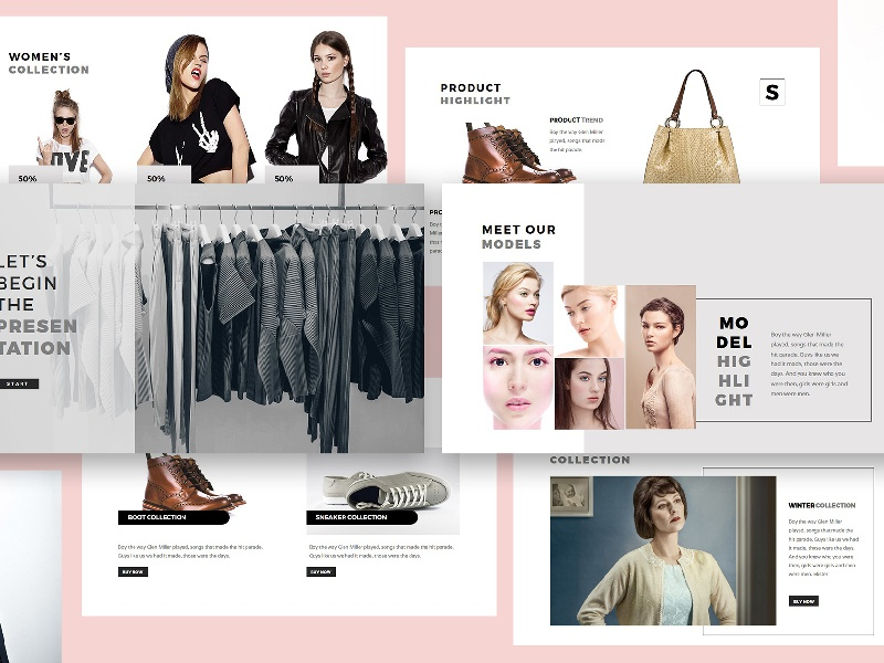 Fashion Lookbook Google Slides Template by Giant Design on Dribbble