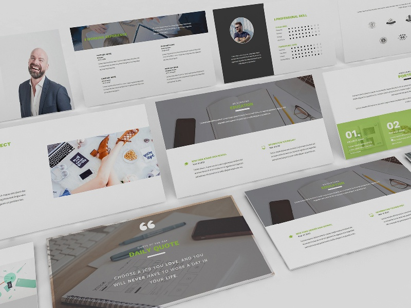 resume cv google slide template by giant design dribbble dribbble