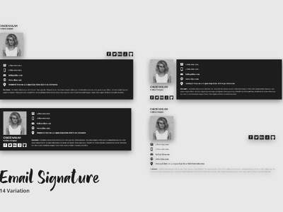 Email Signature Template template phone contact website web mobile mail business list sent trademark watermark signature email