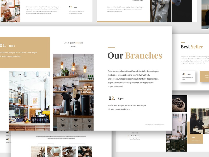 Coffee Shop Google Slides Template By Giant Design On Dribbble