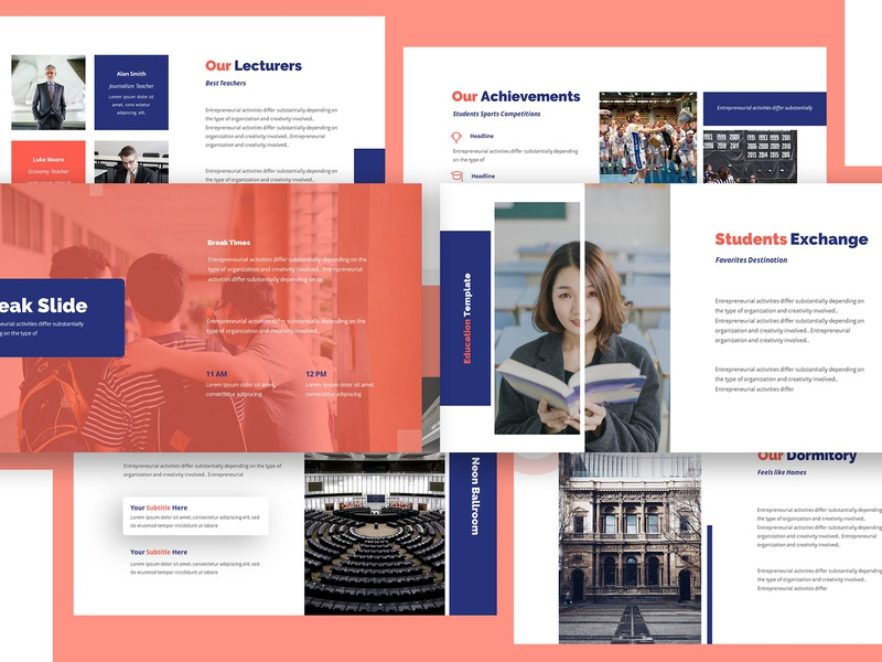 Academia Education Keynote Template majoring faculty lecture campus teacher learning study student academic school college education university