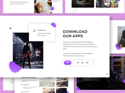 Chordia - Music Google Slides Template