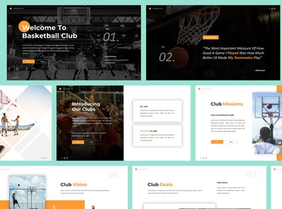 Basketball Club Powerpoint Template