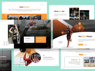 Basketball Club Keynote Template