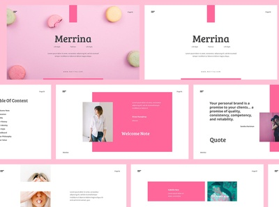 Merrina - Brand Guideline Powerpoint