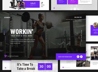 Gym & Fitness Google Slides