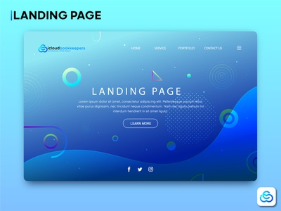Landing page landing page brand guideline business logo
