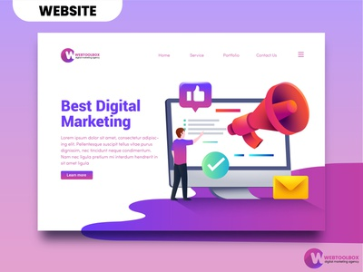 WEBTOOL Landing page branding website design brand guideline brand identity logo design company logo design business logo design landing page business logo