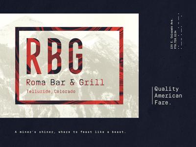 Roma Bar & Grill layout typography identity branding restaurant