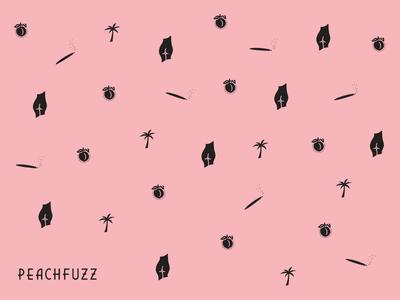 Peachfuzz pattern illustration design icon pattern