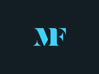 MF serif typography letters custom monogram type logo