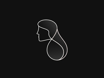 Lady Lines icon illustration abstract